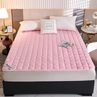 2021新款亲肤全棉抗菌床垫 软床垫 学生宿舍防滑床垫 夹棉床笠 0.9*2.0m 玉色